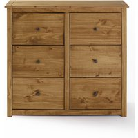 Santiago Solid Pine 6 Drawer Chest of Drawers