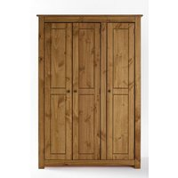 'Santiago Solid Pine 3 Door Wardrobe