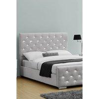 Arabella Grey Linen Bed Frame