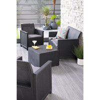 'Keter Emma Lounge Set With Storage Table