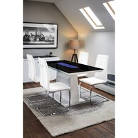 Matrix Dining Table with 4 Opus Chairs