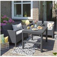 'Keter Orlando Graphite Lounge Set With Lyon Table