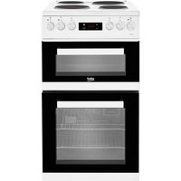 Beko 50cm Double Oven Electric Cooker with Solid Plates