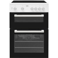 Beko 60cm Twin Cavity Electric Cooker with Ceramic Hob