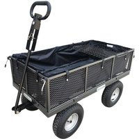 400kg Garden Trolley with Liner and Tool Tray