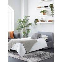 Footstool Bed Grey Linen