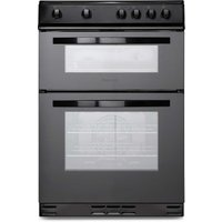 Montpellier 60cm Black Double Oven Electric Cooker
