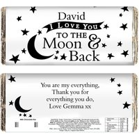 Personalised To The Moon and Back...Chocolate Bar.