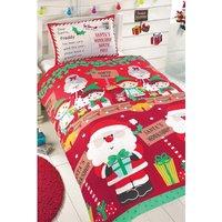 Personalised Santas Workshop Single Duvet Set