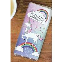 Personalised Unicorn Chocolate Bar.
