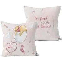 Personalised Winnie the Pooh and Piglet Found Somebody Cushion