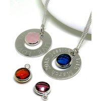 Personalised Sterling Silver Eternity Birthstone Necklace.