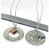 Personalised Eternity Necklace with Sterling Silver Mini Charm.