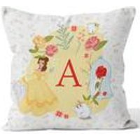 Personalised Disney Princess Belle Initial Cushion