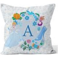 Personalised Disney Princess Cinderella Initial Cushion