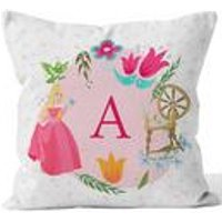 Personalised Disney Princess Aurora Initial Cushion