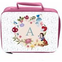 Personalised Disney Princess Snow White Initial Lunch Bag