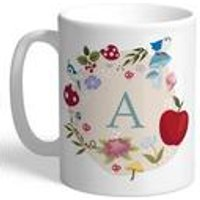 Personalised Disney Princess Snow White Initial Mug