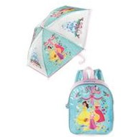 Personalised Disney Princess Backpack and Umbrella Set