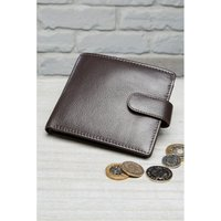 'Personalised Mens Brown Leather Wallet