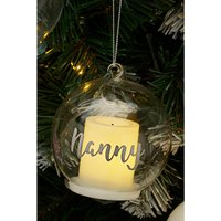 Personalised LED Candle Glass Bauble