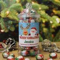 Personalised Christmas Chocolates Jar.