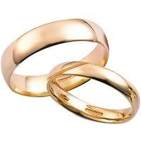 9ct Yellow Gold Plain Court Ring Set