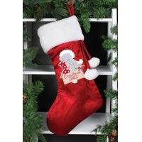 'Personalised Me To You Tiny Tatty Plush Christmas Stocking