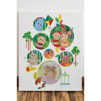 In The Night Garden Bubble Photo Canvas