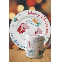 Personalised Peppa Pig Santa Treat Set