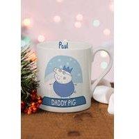 Personalised Peppa Pig Daddy Pig Snowglobe Large Balmoral Mug