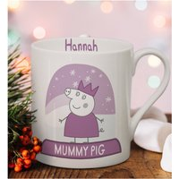Personalised Peppa Pig Mummy Pig Snowglobe Large Balmoral Mug