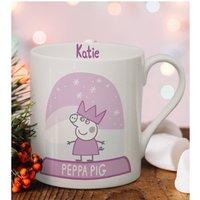 Personalised Peppa Pig Snowglobe Balmoral Mug