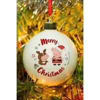 Personalised Peppa Pig and George Pig Christmas Bauble