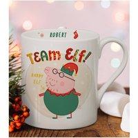 Personalised Peppa Pig Team Elf Daddy Pig Balmoral Mug