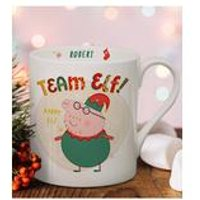 Personalised Peppa Pig Team Elf Daddy Pig Balmoral Mug