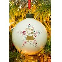 Personalised Peppa Pig Christmas Glitter Bauble