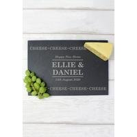 'Personalised Cheese Cheese Cheese Slate Cheese Board