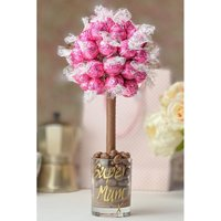 Personalised Pink Strawberries and Cream Lindor Sweet Tree.