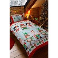 Personalised Santa StopHere Single Duvet Set