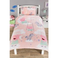 Personalised Peppa Pig Stardust Reversible Single Duvet Set