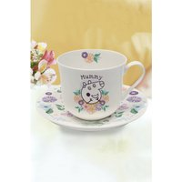 Personalised Peppa Pig Mummy Pig Floral Cup and Saucer