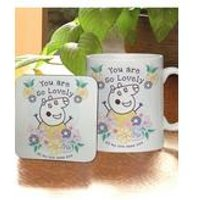 Personalised Peppa Pig Mummy Pig Floral Mug and Coaster