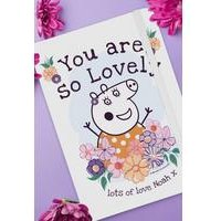 Personalised Peppa Pig Mummy Pig Floral Notebook