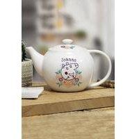 Personalised Peppa Pig Mummy Pig Floral Teapot