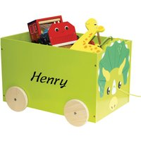 Personalised Wooden Pull Along Toy Storage.