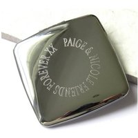 Personalised Edge Square Handbag Mirror