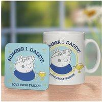 Personalised Peppa Pig Number 1 Daddy Mug and Coaster