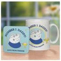 Personalised Peppa Pig Number 1 Daddy Mug and Coaster