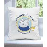Personalised Peppa Pig Number 1 Daddy Cushion